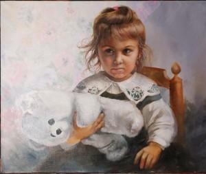Портрет Карины, холст, масло